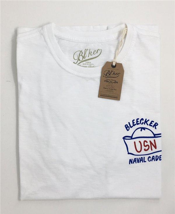 Navy Hat T-Shirt Manica Corta Uomo White