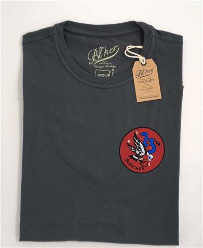 23 Bomb Group Camiseta Manga Corta para Hombre Faded Black