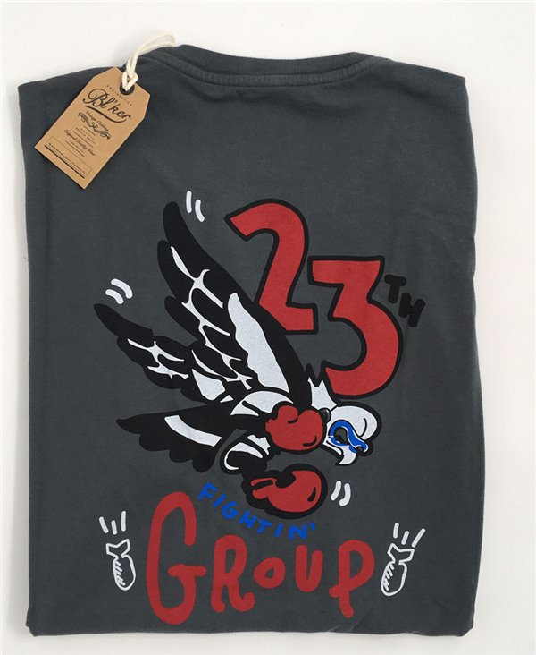 Herren Kurzarm T-Shirt 23 Bomb Group Faded Black