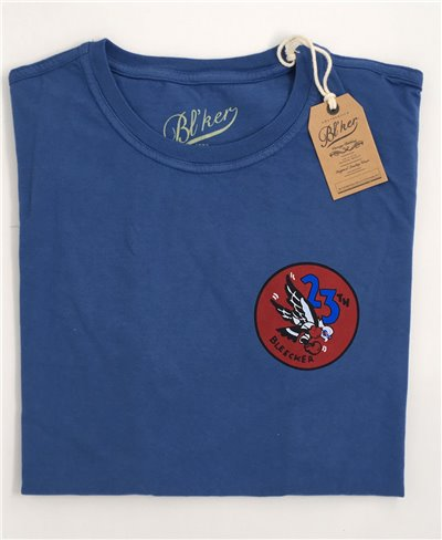 Men's Short Sleeve T-Shirt 23 Bomb Group Royal