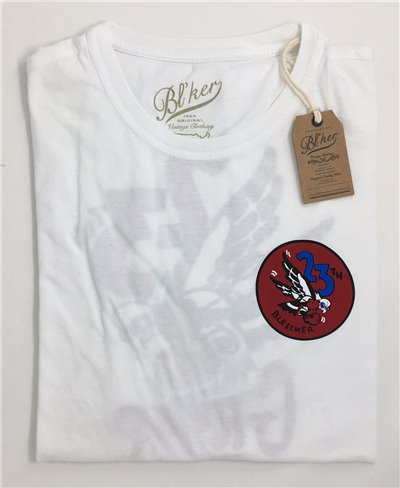 23 Bomb Group T-Shirt Manica Corta Uomo White