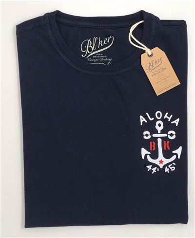 Men's Short Sleeve T-Shirt Anchor Navy