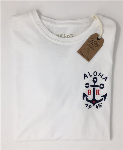 Men's Short Sleeve T-Shirt Anchor White