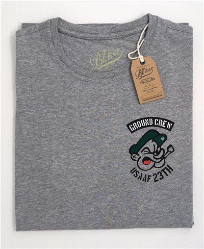 Ground Crew T-Shirt à Manches Courtes Homme Grey Melange