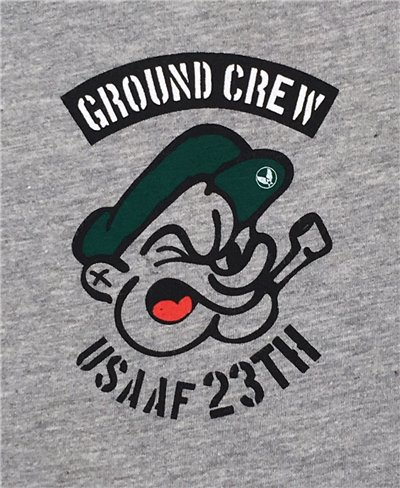 Men's Short Sleeve T-Shirt Ground Crew Grey Melange