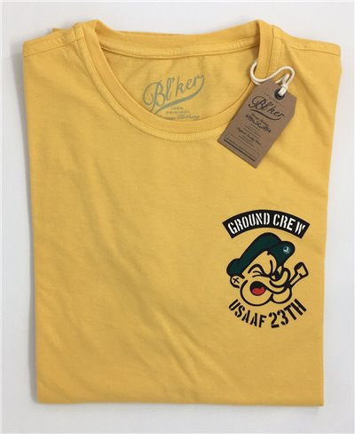 Men's Short Sleeve T-Shirt Ground Crew Yellow