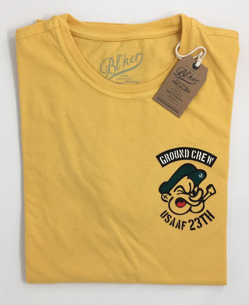 Ground Crew T-Shirt Manica Corta Uomo Yellow