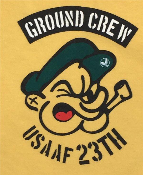 Herren Kurzarm T-Shirt Ground Crew Yellow