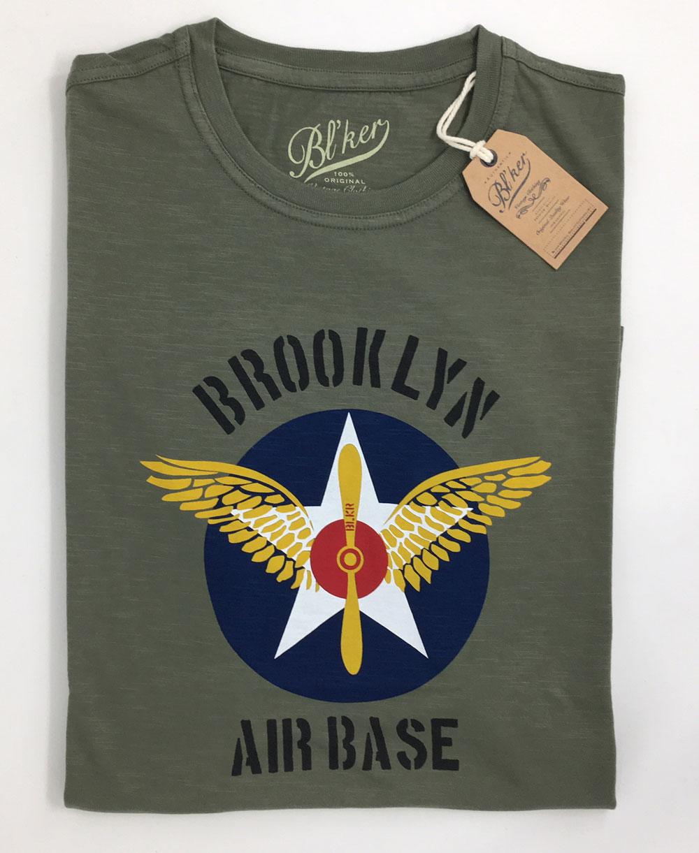 Men's Short Sleeve T-Shirt BRKL Air Base Military Green