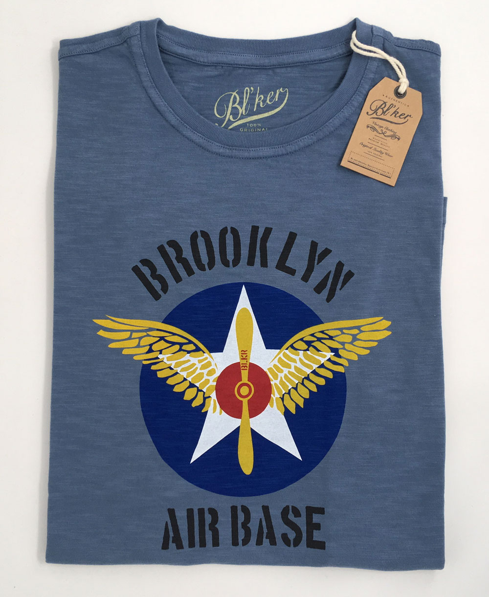 BRKL Air Base Camiseta Manga Corta para Hombre Petroleum