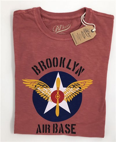 BRKL Air Base T-Shirt Manica Corta Uomo Red