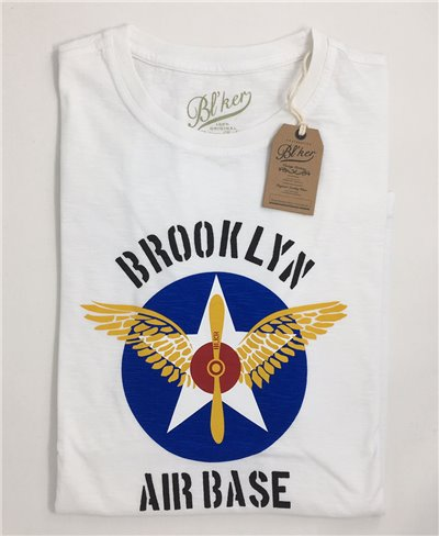 Herren Kurzarm T-Shirt BRKL Air Base White
