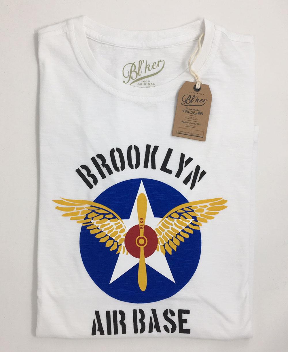 BRKL Air Base Camiseta Manga Corta para Hombre White