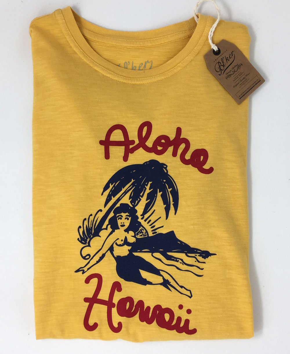 Men's Short Sleeve T-Shirt Aloha Hawaii Yellow