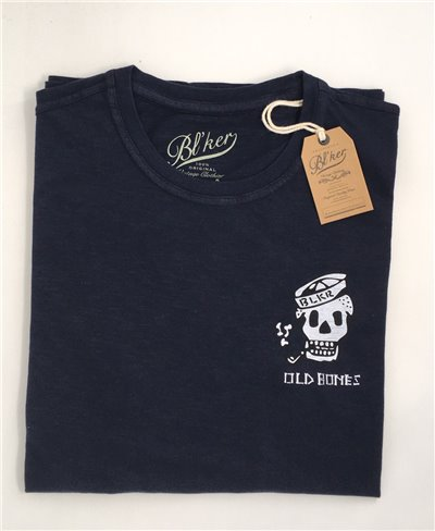 Men's Short Sleeve T-Shirt Old Bones Navy