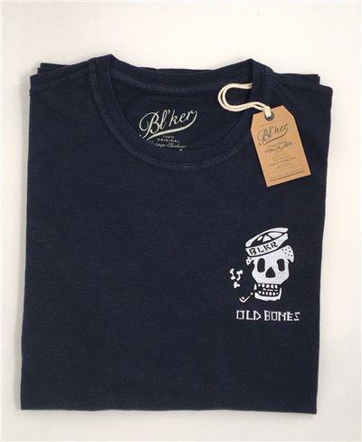 Old Bones T-Shirt Manica Corta Uomo Navy