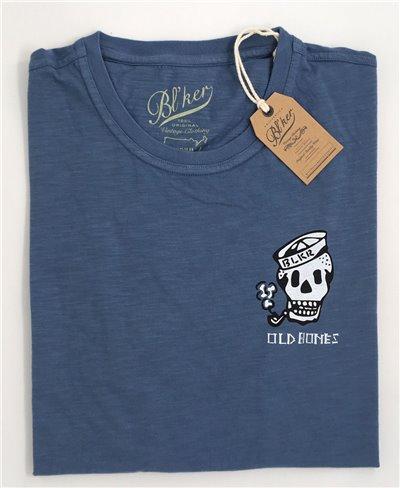 Old Bones T-Shirt Manica Corta Uomo Petroleum