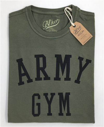 Army Gym T-Shirt Manica Corta Uomo Military Green