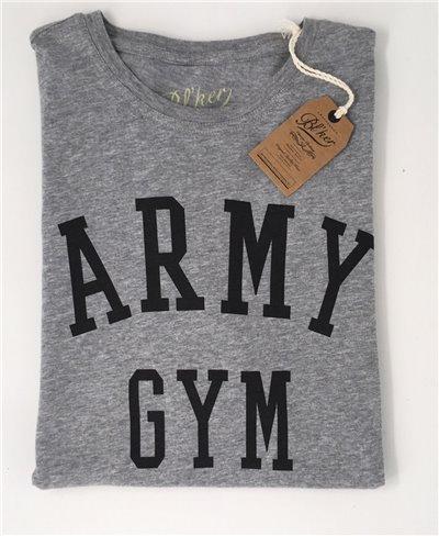 Herren Kurzarm T-Shirt Army Gym Grey Melange