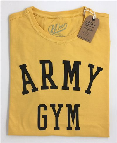 Army Gym T-Shirt Manica Corta Uomo Yellow