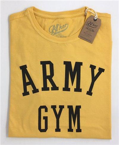 Men's Short Sleeve T-Shirt Army Gym Yellow