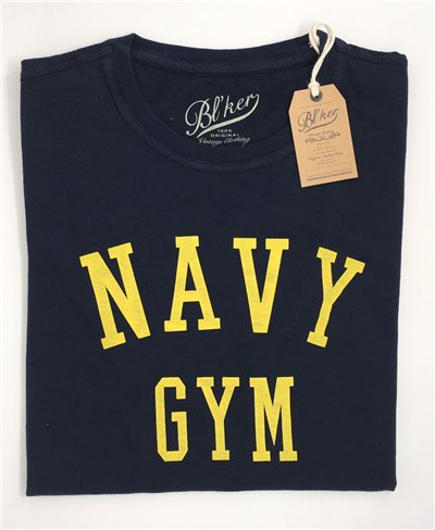 Men's Short Sleeve T-Shirt Navy Gym Navy