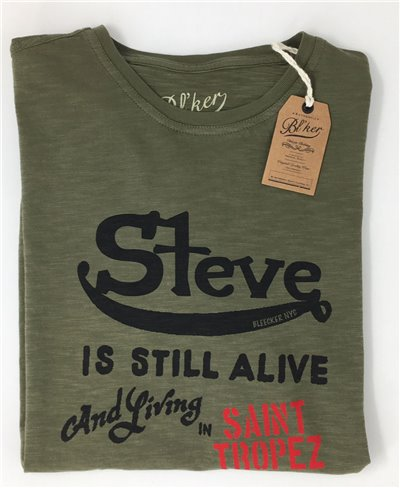 Herren Kurzarm T-Shirt Steve Military Green