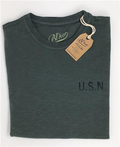 Men's Short Sleeve T-Shirt USN Military Green