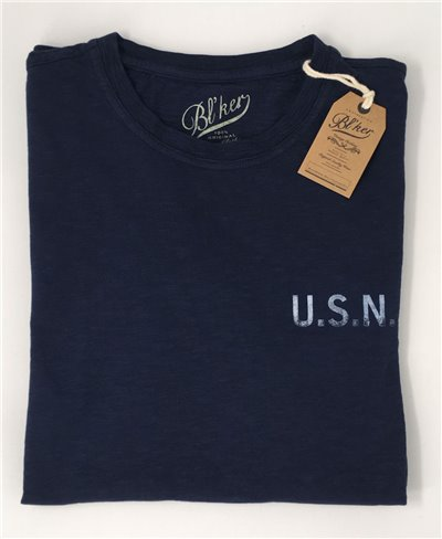 USN T-Shirt Manica Corta Uomo Navy