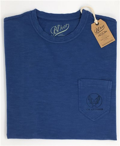 US Air Force T-Shirt Manica Corta Uomo Royal