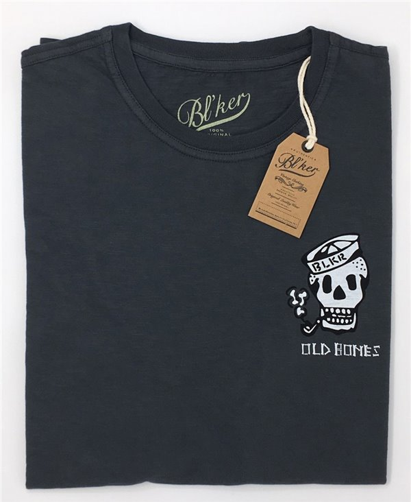 Old Bones T-Shirt à Manches Courtes Homme Faded Black