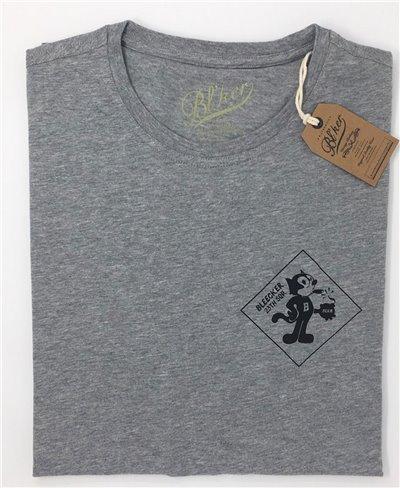 Felix T-Shirt Manica Corta Uomo Grey Melange