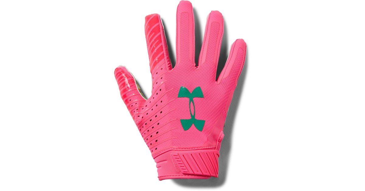 Integrar Ausencia Absorber  Under Armour Spotlight LE Men's Football Gloves Mojo Pink 641
