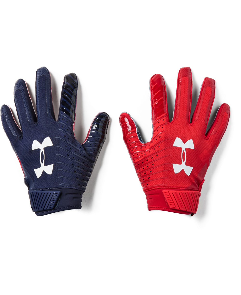 1ae4fda643b86 Under Armour Spotlight LE Men's Football Gloves Midnight Navy 410