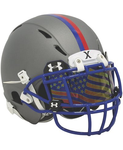 Flag Tinted Herren American Football-Helmvisiere