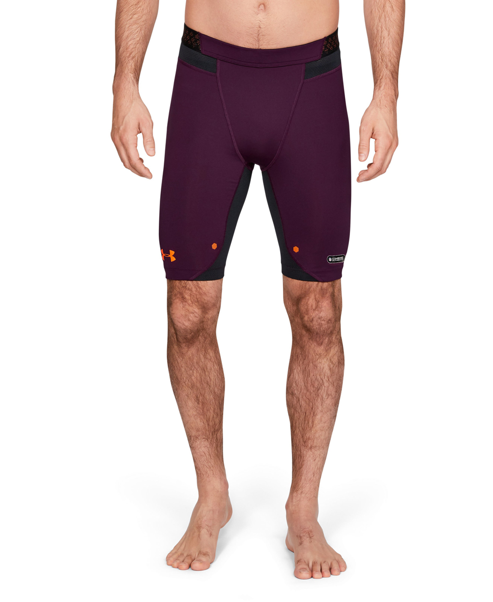 new styles 31b87 b9e2e NFL Combine Authentic Compression Men's Football Shorts Polaris Purple 501
