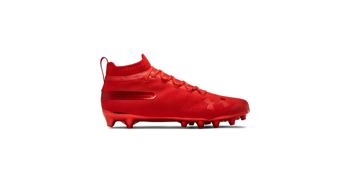 ffc8f3c0543 Under Armour Men s Spotlight Suede MC American Football Cleats Red