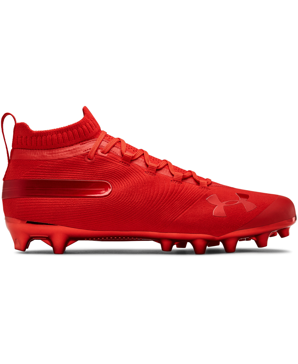 f43c907eaa8a Under Armour Men's Spotlight Suede MC American Football Cleats Red