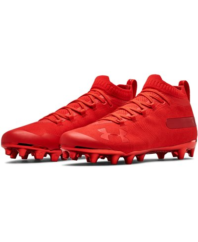 554170bae Under Armour Men s Spotlight Suede MC American Football Cleats Red