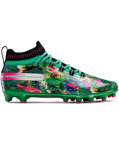 Men's Spotlight LE American Football Cleats Black/Jade