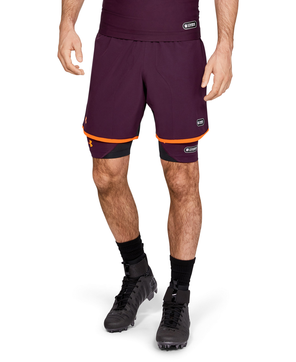 NFL Combine Authentic Men's Football Shorts Polaris Purple 501