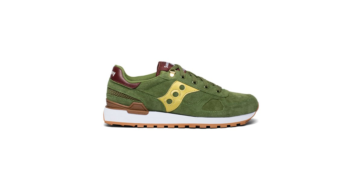 huge selection of a53aa d0ca7 Saucony Men's Shadow Original Suede Ranger Sneakers Shoes Green/Gold