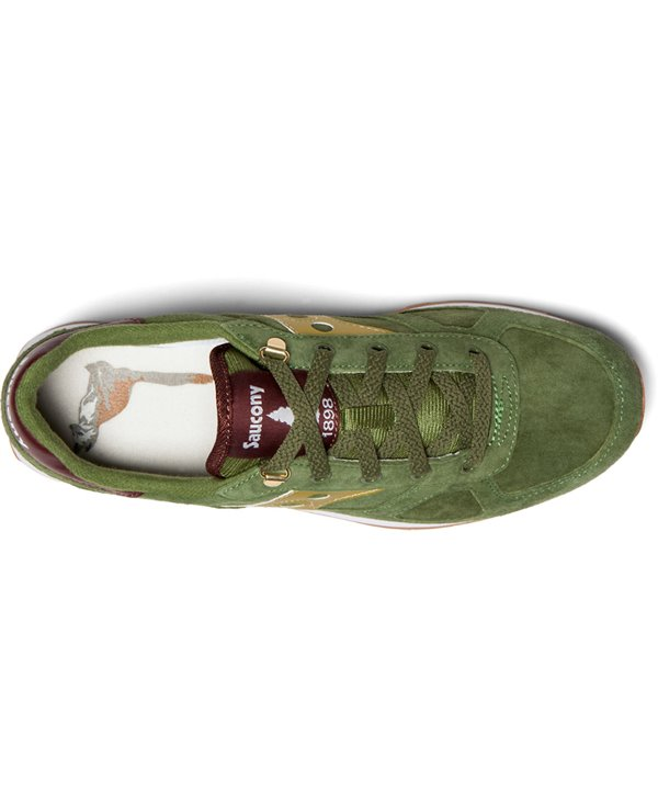 Men's Shadow Original Suede Ranger Sneakers Shoes Green/Gold