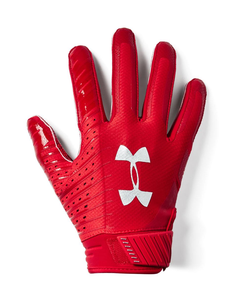 Spotlight Herren American Football Handschuhe Red 600