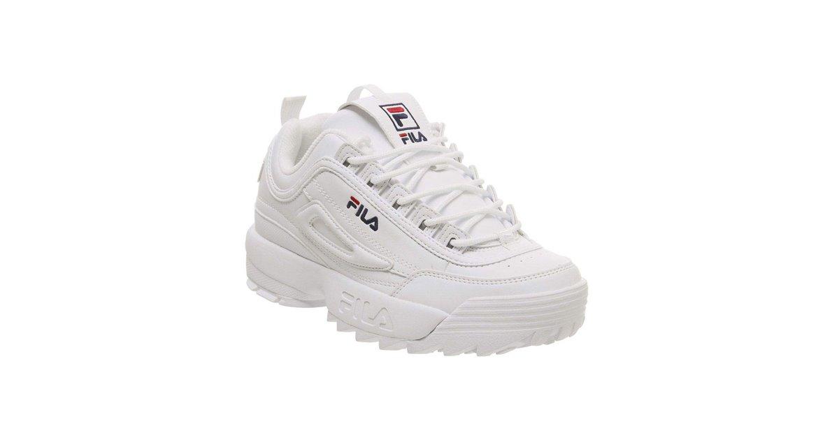 Fila Disruptor II Letter Scarpe Sneakers Donna White