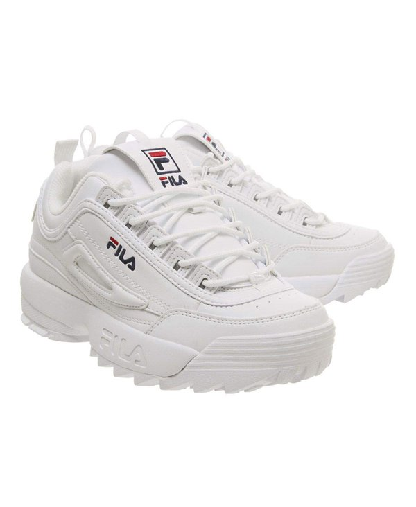 Women's Disruptor II Letter Sneakers Shoes White