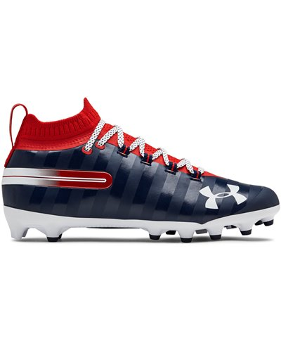 Men's Spotlight LE American Football Cleats Red/Academy