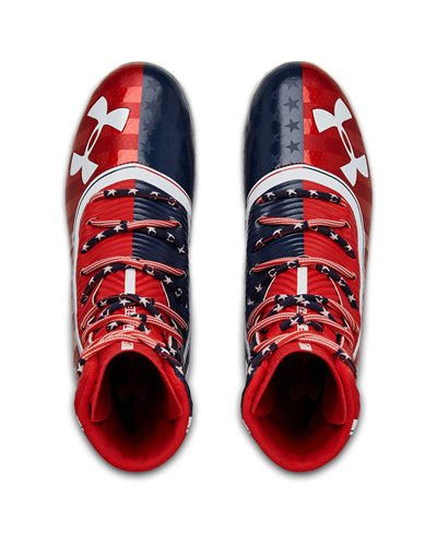 Men's Highlight MC LE American Football Cleats Red/Academy