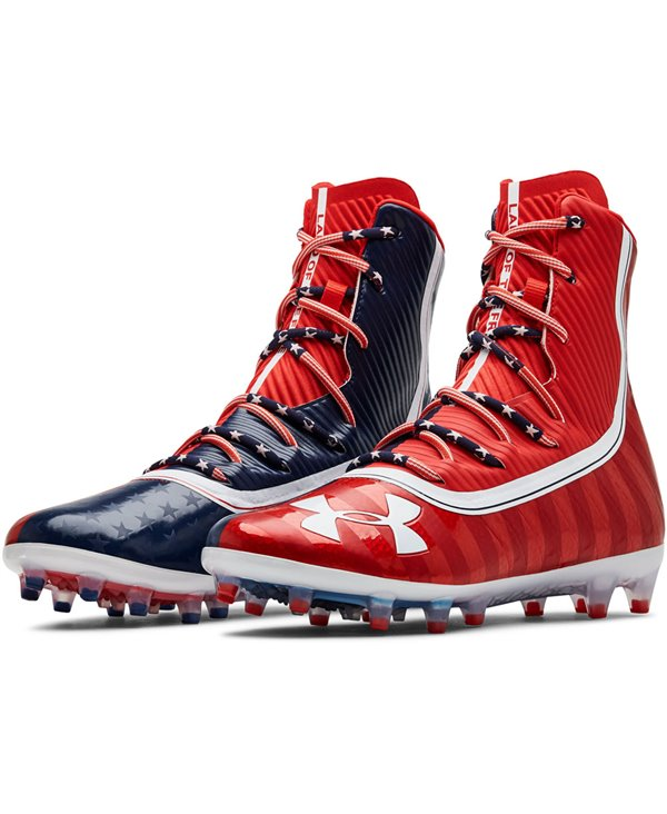 Highlight MC LE Scarpe da Football Americano Uomo Red/Academy