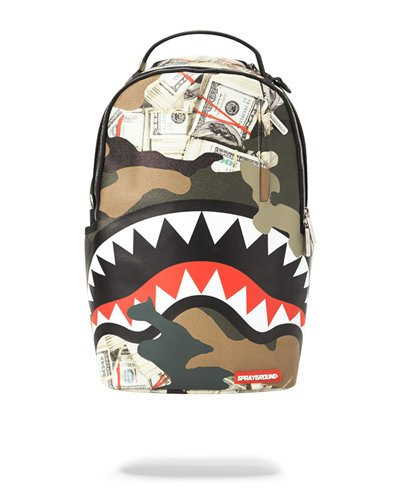 Camo Money Shark Backpack